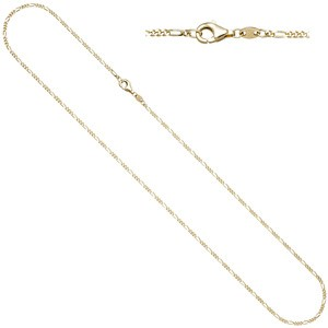 Figarokette 333 Gold Gelbgold diamantiert 1,7 mm 50 cm Kette Halskette Goldkette