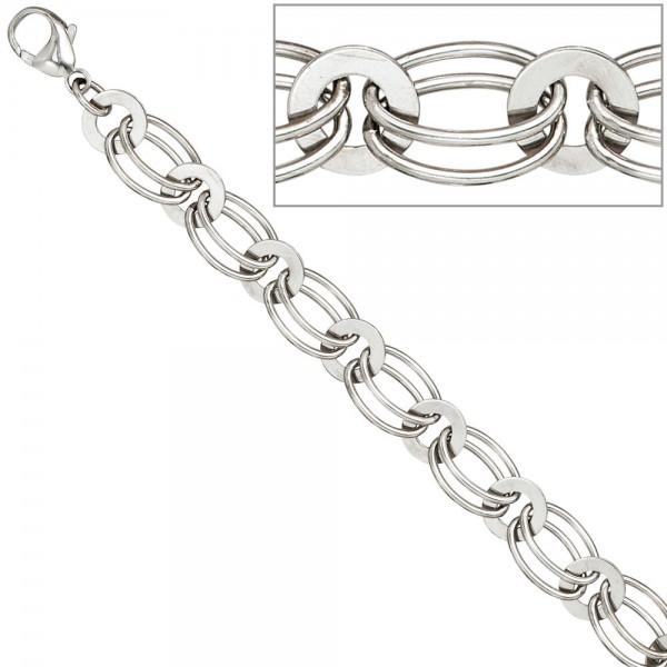 Halskette Kette 925 Sterling Silber rhodiniert 45 cm Silberkette Karabiner