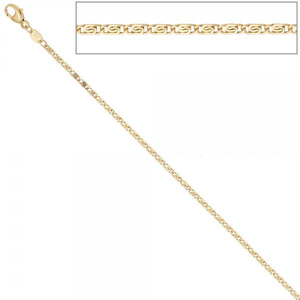 S-Panzerkette 333 Gelbgold diamantiert 1,6 mm 38 cm Gold Halskette Goldkette
