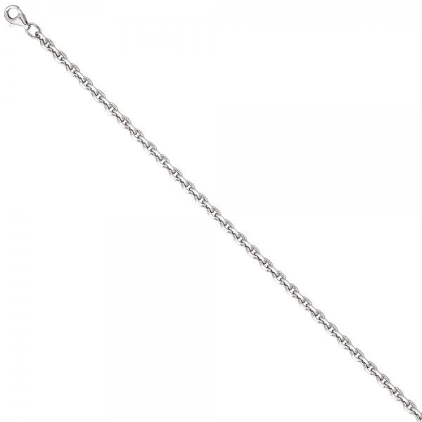 Ankerkette 925 Silber diamantiert 3,4 mm 45 cm Kette Halskette Silberkette