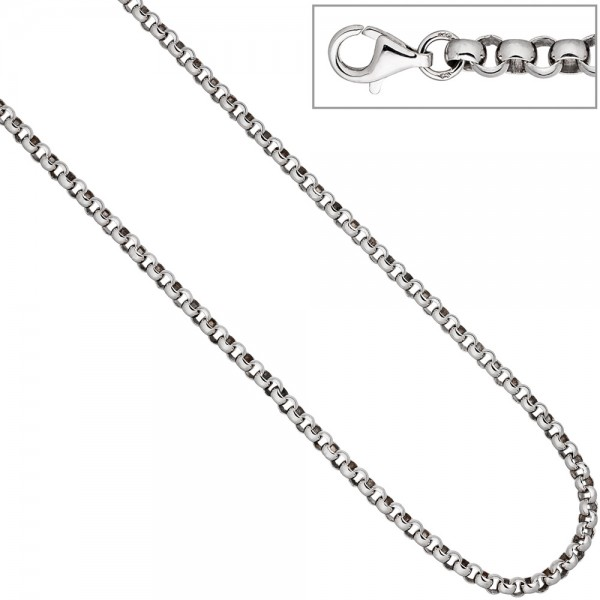 Erbskette 925 Sterling Silber 4,5 mm 45 cm Kette Halskette Silberkette Karabiner