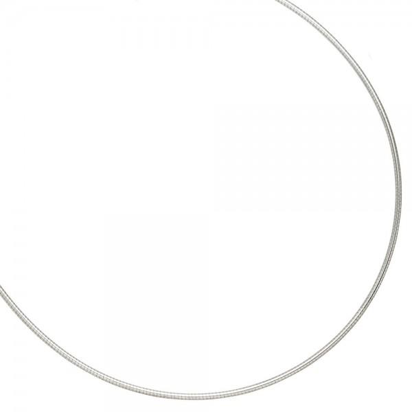 Halsreif 925 Sterling Silber 1,5 mm 50 cm Kette Halskette Silberhalsreif