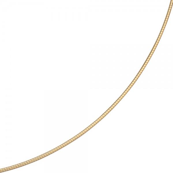 Halsreif 585 Gelbgold 1,1 mm 42 cm Gold Kette Halskette Goldhalsreif Karabiner