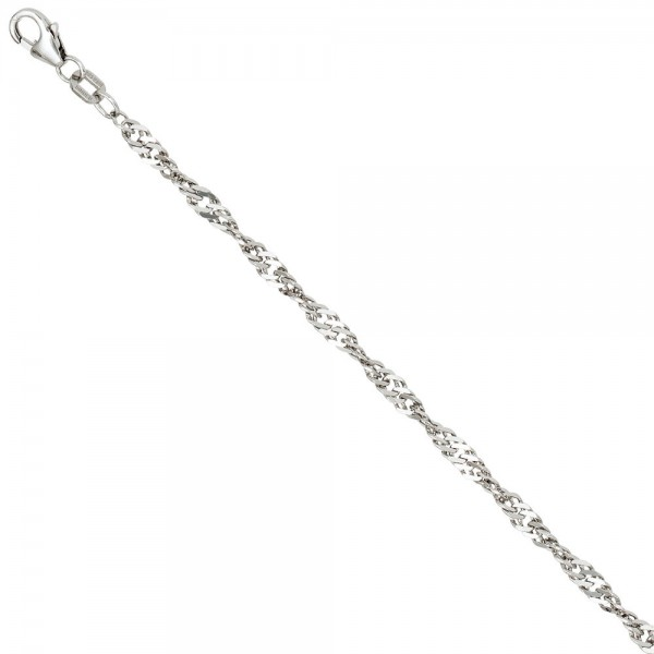 Singapurkette 925 Silber 2,9 mm 50 cm Halskette Kette Silberkette Karabiner