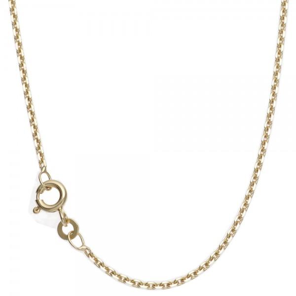 Ankerkette 585 Gelbgold diamantiert 1,6 mm 50 cm Gold Kette Halskette Goldkette