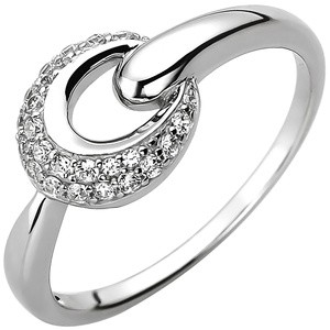 Damen Ring 925 Sterling Silber 25 Zirkonia Silberring