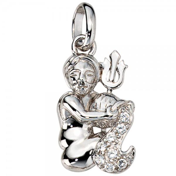 Anhänger Sternzeichen Wassermann 925 Silber mit Zirkonia Sternzeichenanhänger