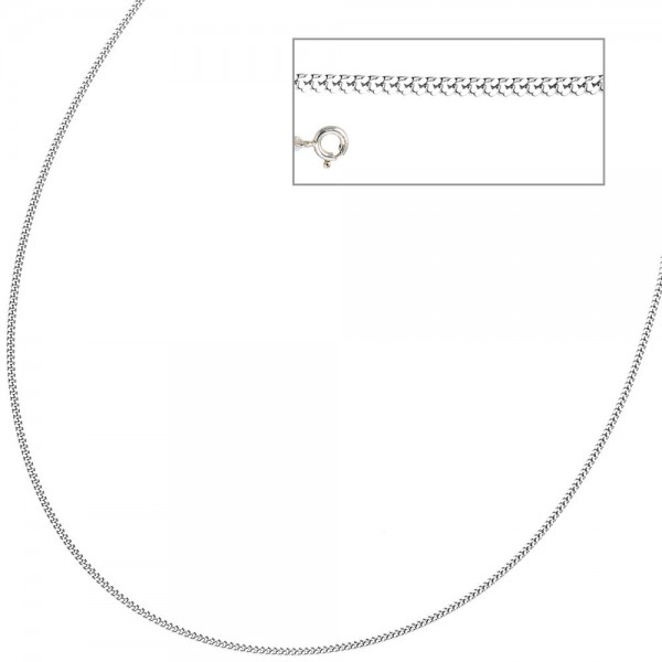 Panzerkette 925 Sterling Silber 1,7 mm 38 cm Halskette Kette Silberkette