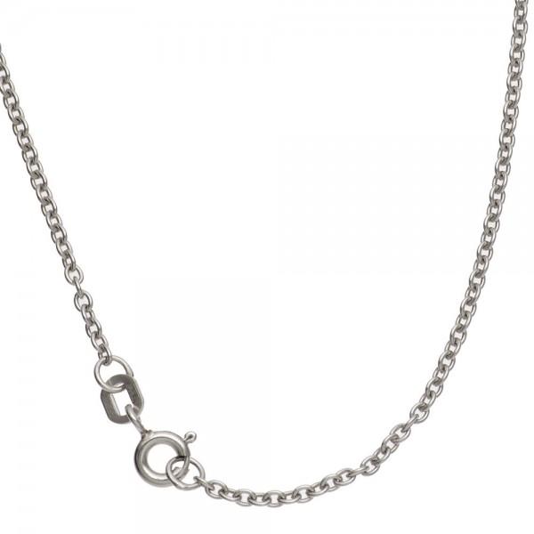 Ankerkette 333 Weißgold 1,6 mm 50 cm Gold Kette Halskette Weißgoldkette