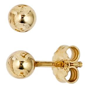 Ohrstecker 333 Gold Gelbgold Ohrringe Kugelohrstecker